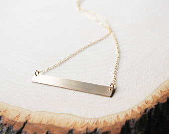 Bar Necklace - Token Jewelry Designs