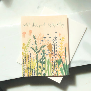 With Deepest Sympathy Card - Token Jewelry Designs