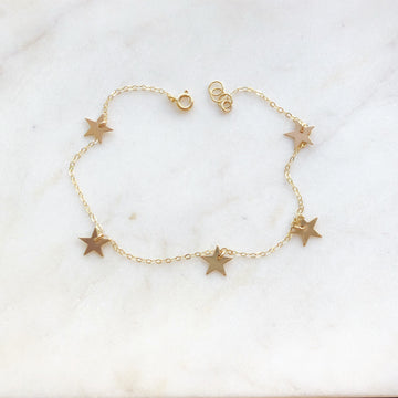 Mini Star Anklet - Token Jewelry Designs