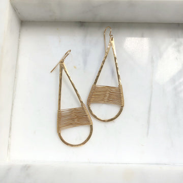 Woven Metal Hoops - Token Jewelry Designs