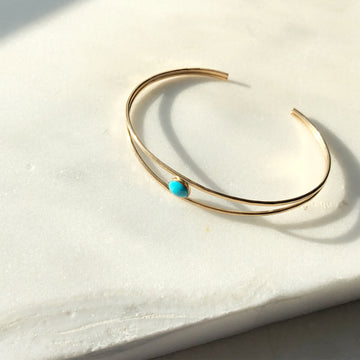 Turquoise Cuff - Token Jewelry Designs