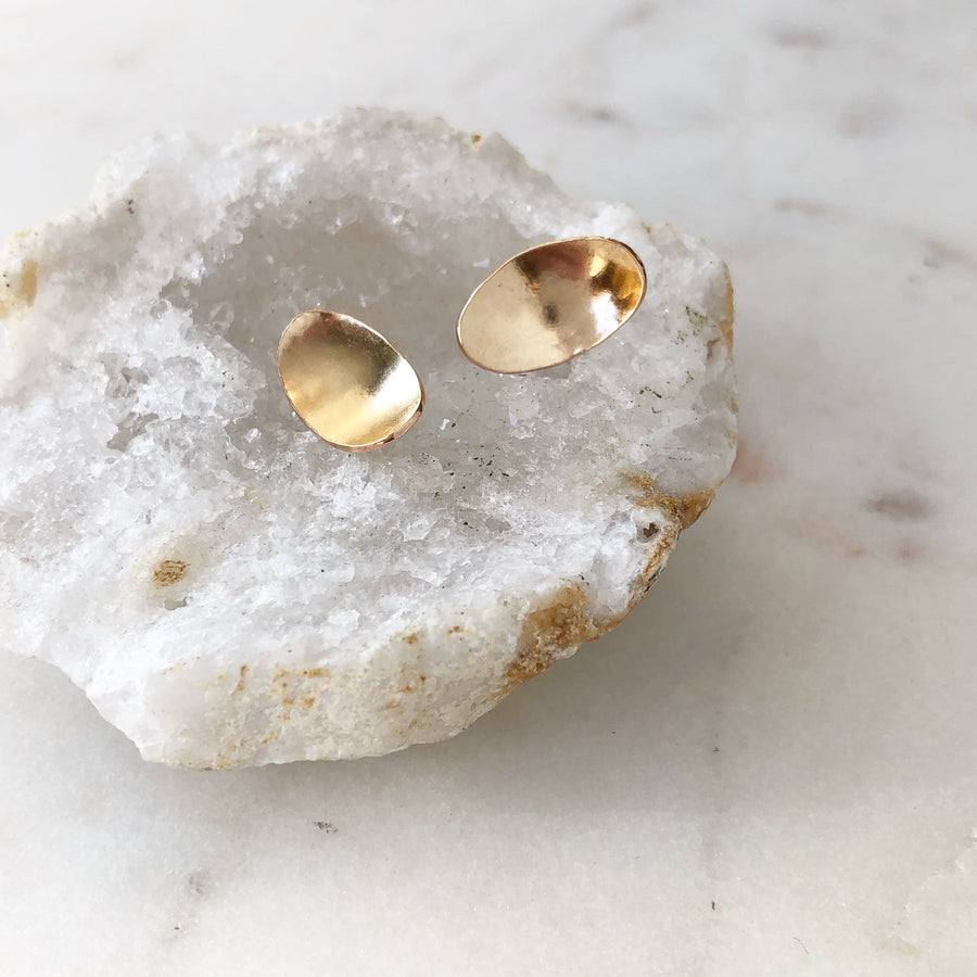 Pooled Light Studs - Token Jewelry Designs