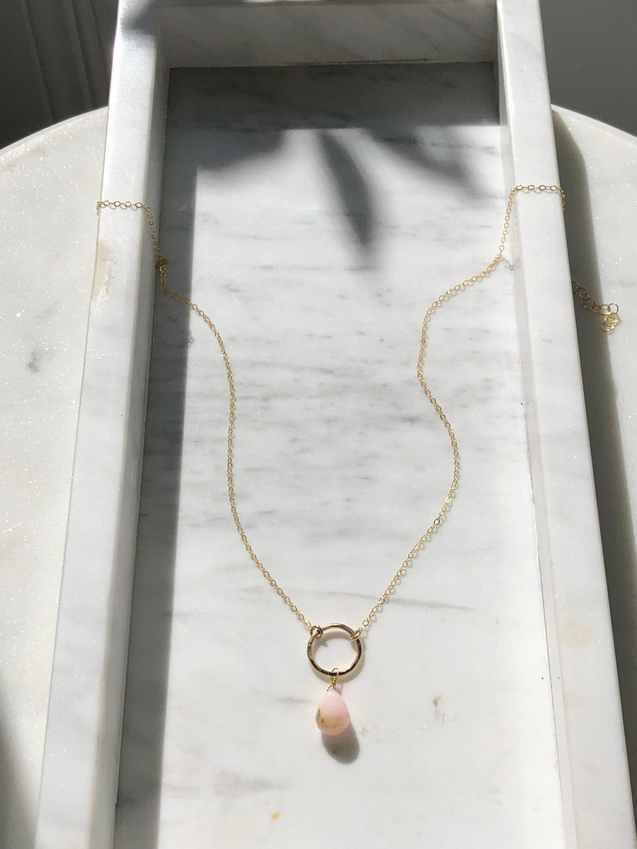 Pink Moon Necklace - Token Jewelry Designs