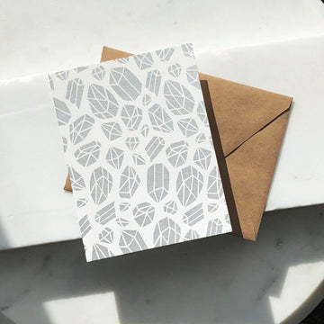 Crystal Pattern Card