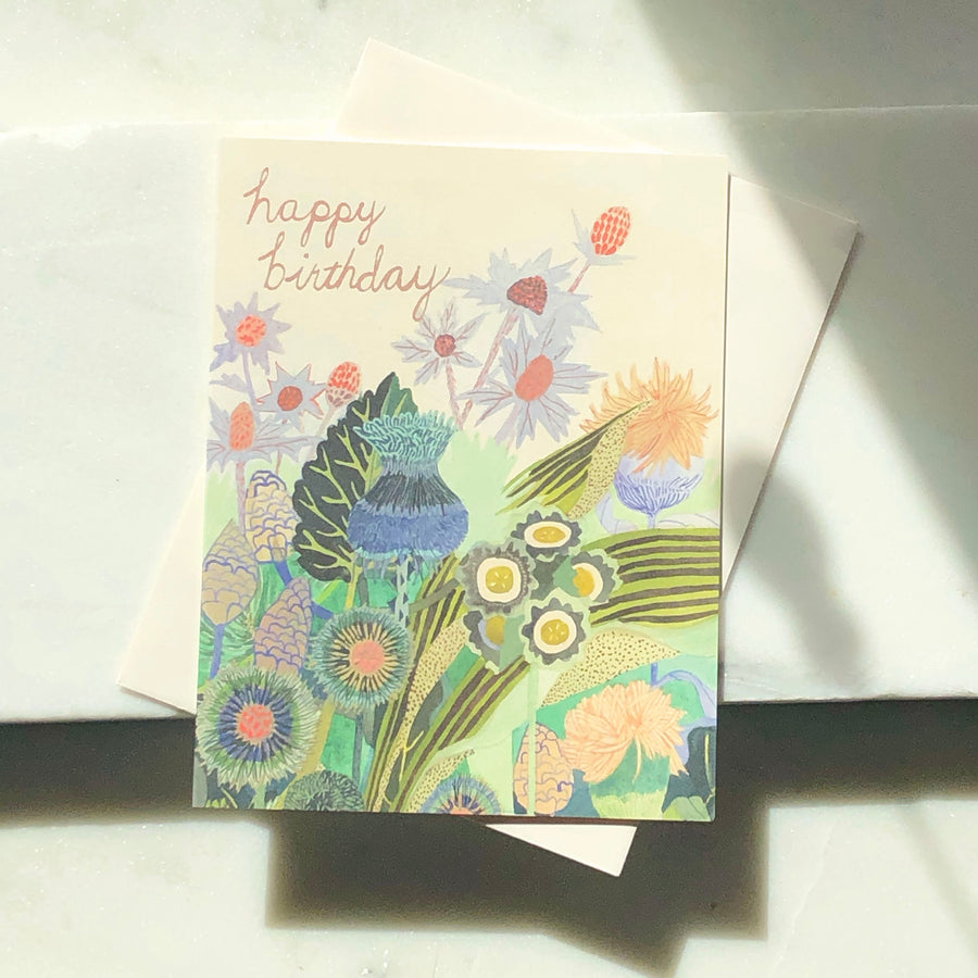Happy Birthday Floral Card - Token Jewelry Designs