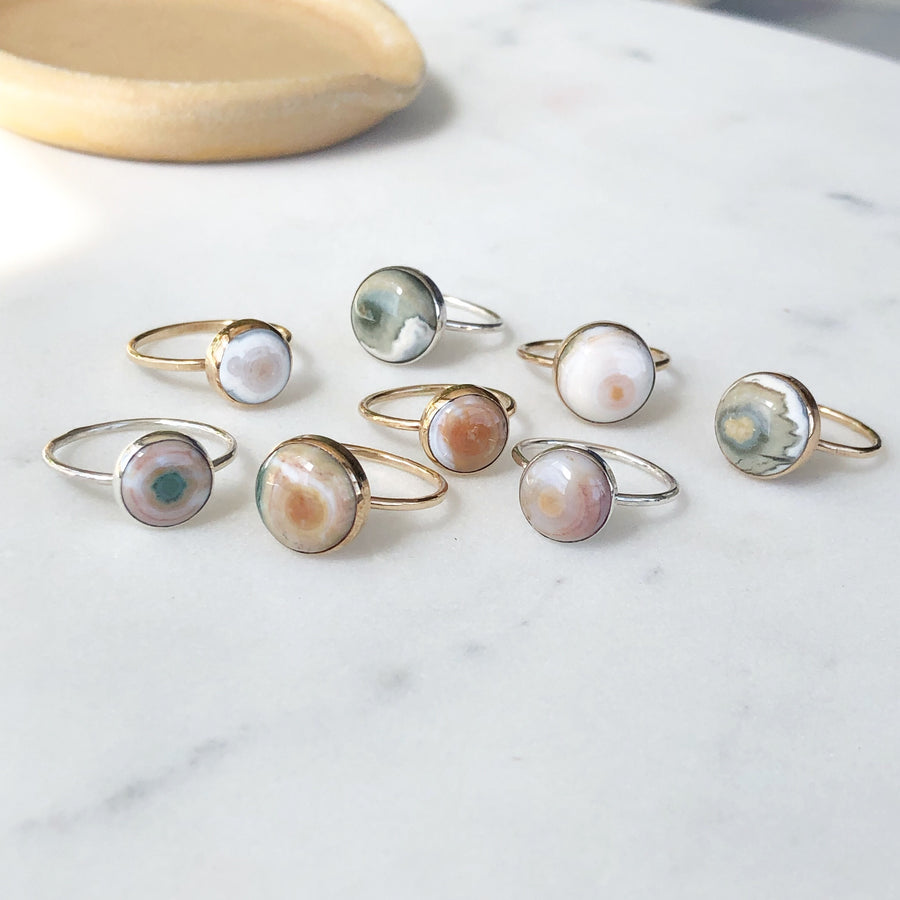 Ocean Jasper Rings / Final Sale - Token Jewelry