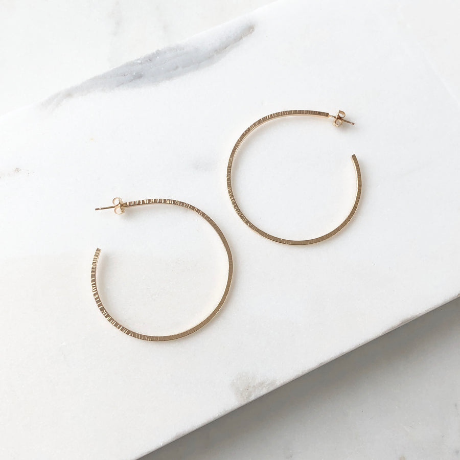 Maeve Hoops - Token Jewelry Designs