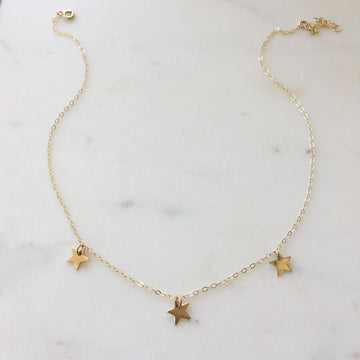 Mini Star Choker - Token Jewelry Designs