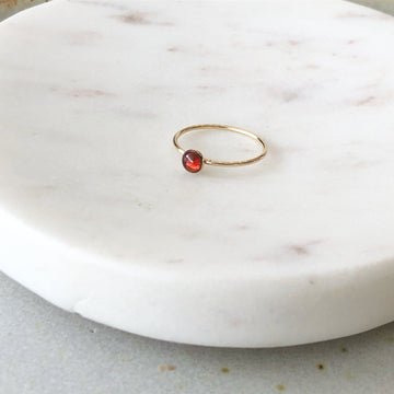 Red Garnet Ring / Final Sale - Token Jewelry Designs