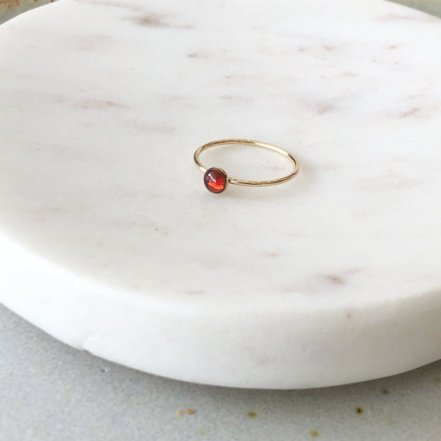 Red Garnet Ring / Final Sale - Token Jewelry
