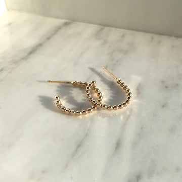 Sequin Hoops - Token Jewelry