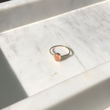 Sunstone Oval Ring - Token Jewelry
