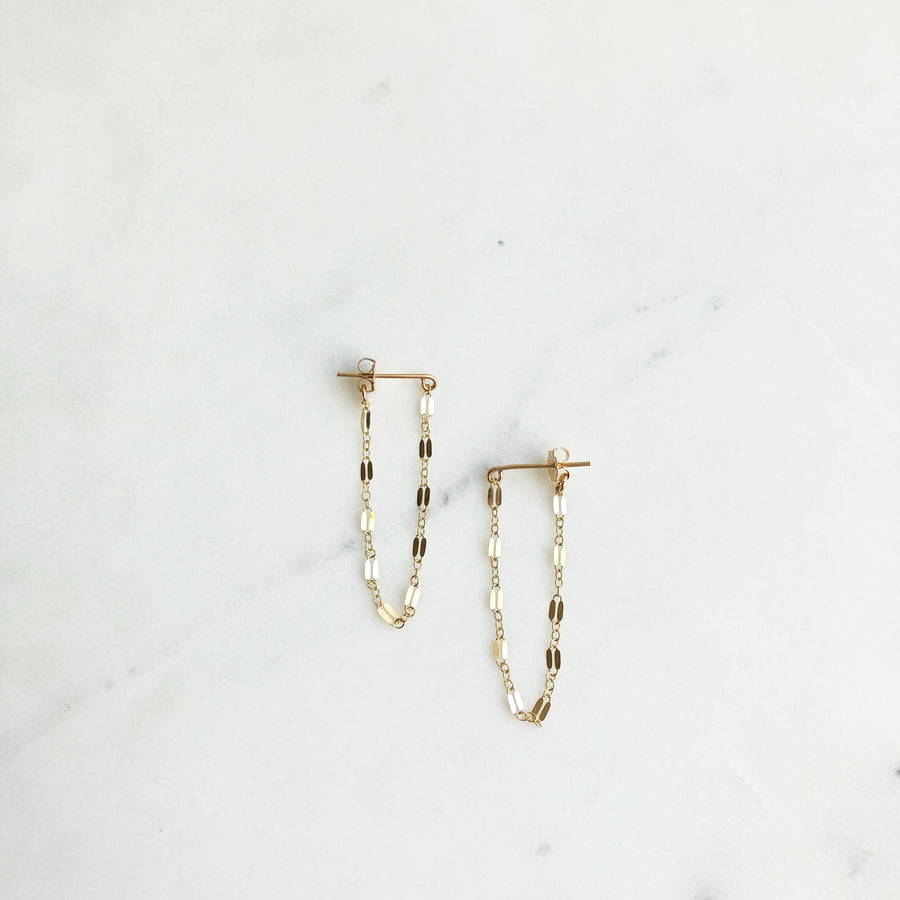 Sylvie Chain Studs - Token Jewelry