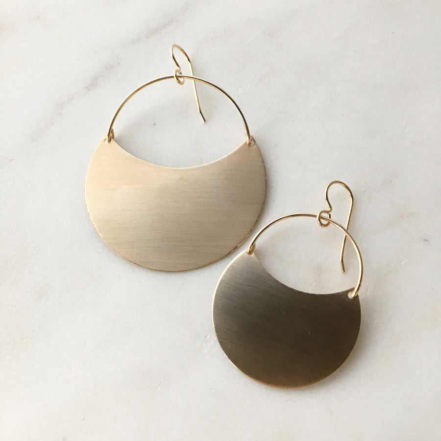 Theia Earrings // Brushed Finish - Token Jewelry Designs