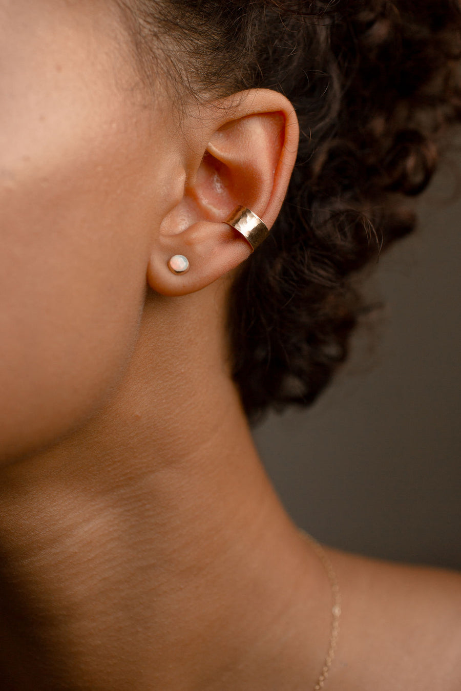 Hammered Ear Cuff - Token Jewelry Designs