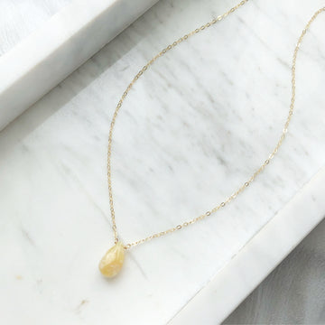 Yellow Opal Necklace - Token Jewelry Designs
