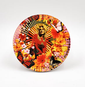 Dolly Parton butterfly coaster set