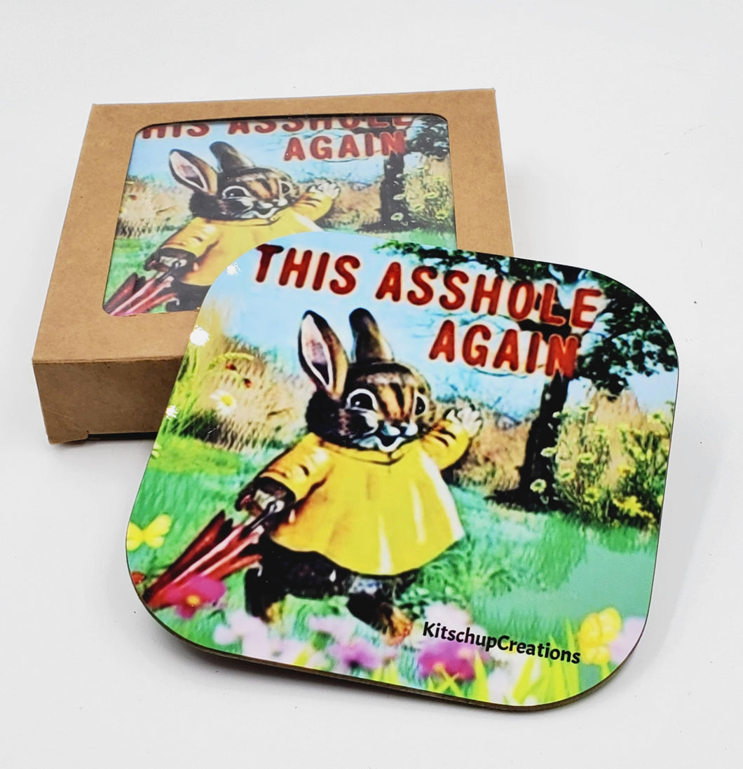 This Asshole Again ! coaster set