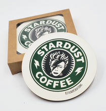 Load image into Gallery viewer, Ziggy Stardust Coffee coaster set
