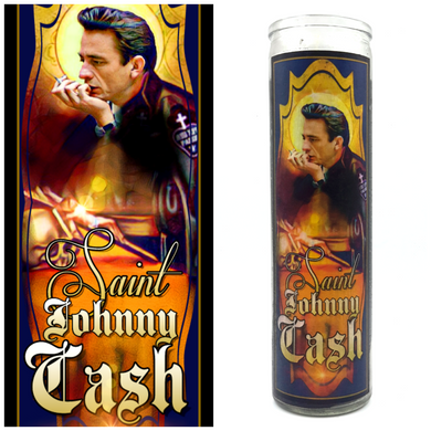 Johnny Cash, Man In Black  Prayer Candle - Kitschup Creations