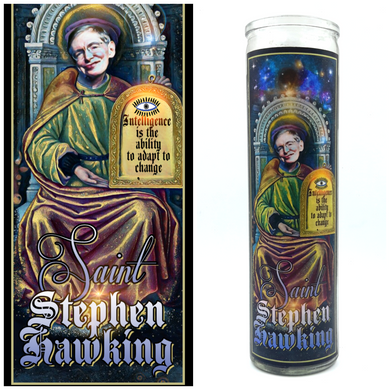 Stephen Hawking Prayer Candle - Kitschup Creations