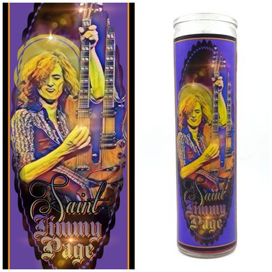 Jimmy Page Prayer Candle - Kitschup Creations