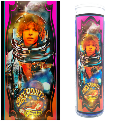 Bowie Space Oddity  Prayer Candle - Kitschup Creations