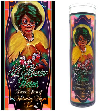 Maxine Waters / Reclaiming My Time Prayer Candle