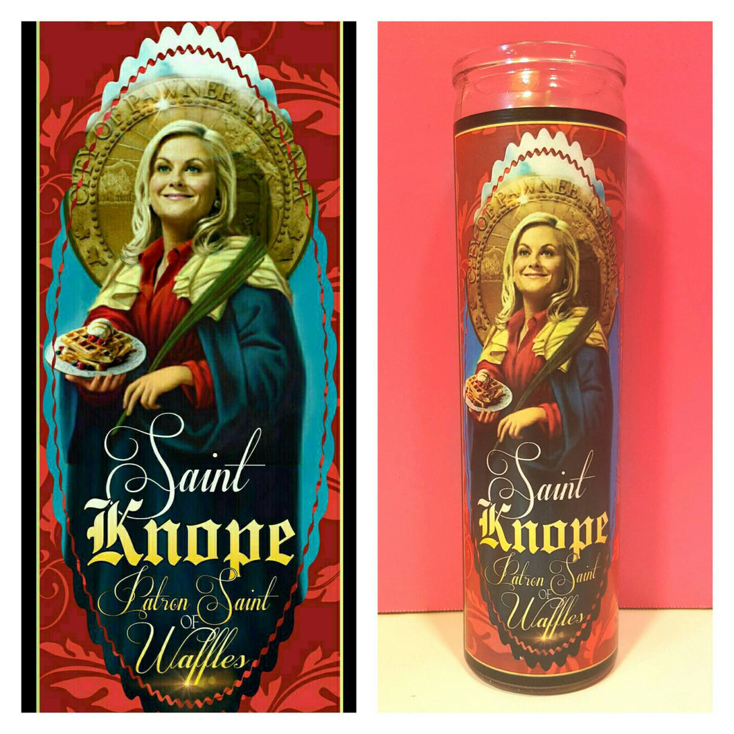 Leslie knope prayer candle