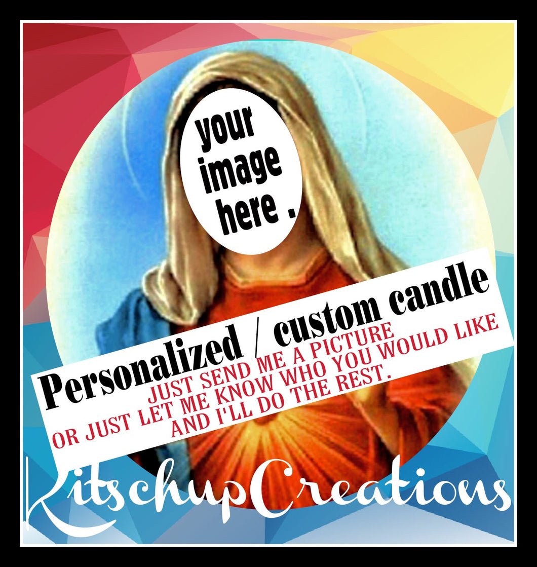 Custom Prayer Candle - Kitschup Creations