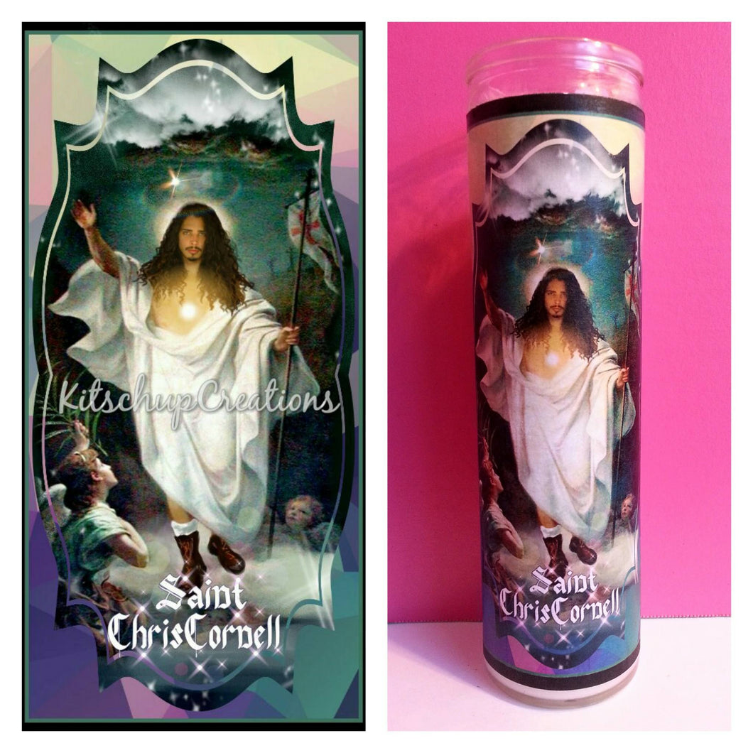 Chris Cornell Prayer Candle - Kitschup Creations