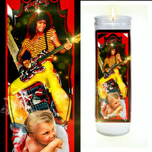 Eddie Van Halen Prayer Candle