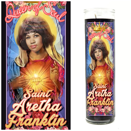 Aretha Queen of Soul Prayer Candle