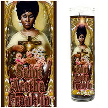 Load image into Gallery viewer, Aretha Franklin Prayer Candle