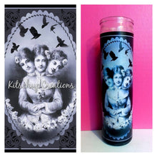Three headed Victorian lady Prayer Candle - Kitschup Creations