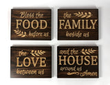 Bless the Food before us - Carved Wooden Sign - Wood Sign With Saying - Wall Collage - Rustic Wood Sign - Decorative Sign - Engraved Sign