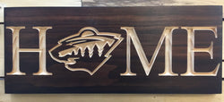 MN Wild Sign- Minnesota Wild - Minnesota Wild Home Sign- Minnesota Wild Carved Wood Sign-   Minnesota State of hockey Man Cave Sign NHL Hockey Drop the Puck