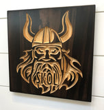 Carved Wood Sign - Victor Viking - Minnesota Sport -  Unique Gift - Vikings - Minneskolta - Minnesota Viking - Sports Decor - Viking Plaque