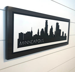 Minneapolis Skyline - Carved Wooden Sign - MSP Skyline - Minneapolis Cityscape Sign - Twin Cities Skyline  - Wood Sign  - Engraved Sign