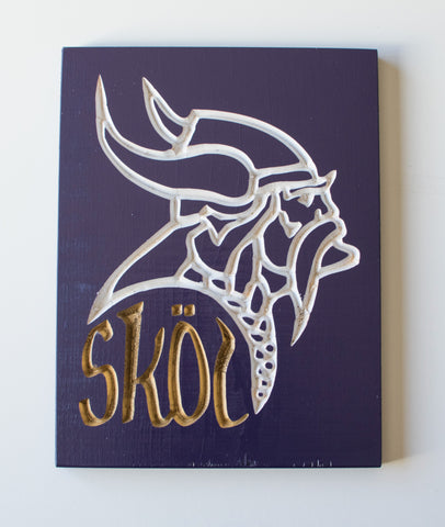 Minnesota Vikings -SKOL - Viktor the Viking - Purple & Gold -