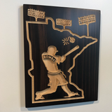 MN Baseball Sign- Bomba Squad - Minnesota Baseball - Carved Wood Sign-   Baseball Decor - Engraved Wood Plaque - Unique Baseball - Rustic