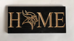 Minnesota Vikings -SKOL - Bring it Home- Minnesota Viking Home Sign- Viktor the Viking - Purple & Gold –