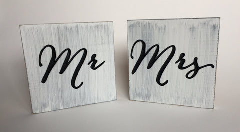 Mr Mrs sign - Wedding Chair Sign Mr and Mrs Chair Signs- Mr and ...