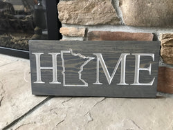 Minnesota Home-Carved Wooden Sign - MN Home - MN sign - Home Sign -Engraved Sign - Cottage Sign - Rustic Sign - Wall Sign - Wooden Plaque