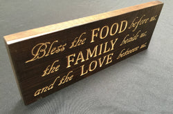 Wood Signs With Sayings - Wooden Sign - Table Top Sign - Wood Carved Sign - Table Decoration - Table Centerpiece - Rustic Wood Sign