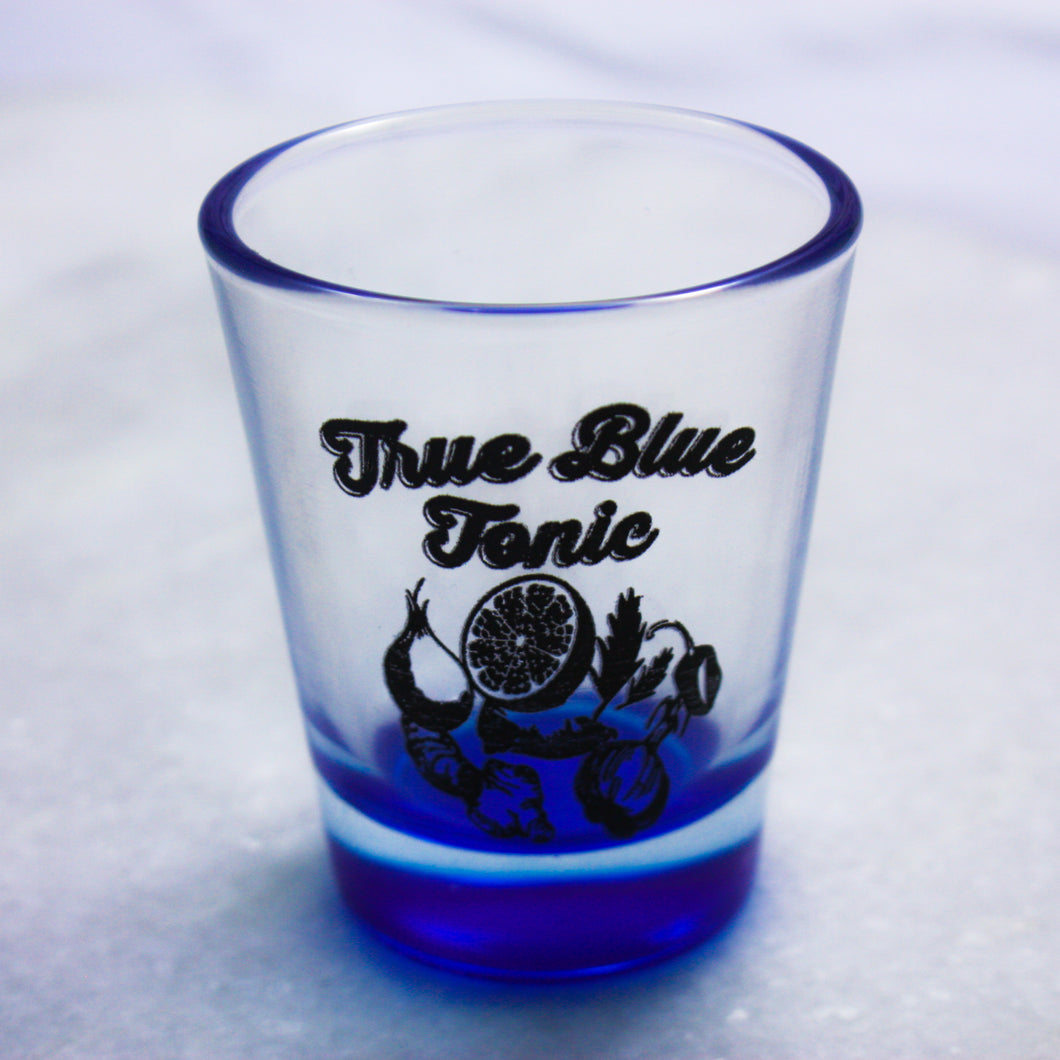 True Blue Tonic Shot Glass