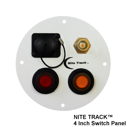 "NITE TRACK 4"" Illuminated Switch Panel (Round)"