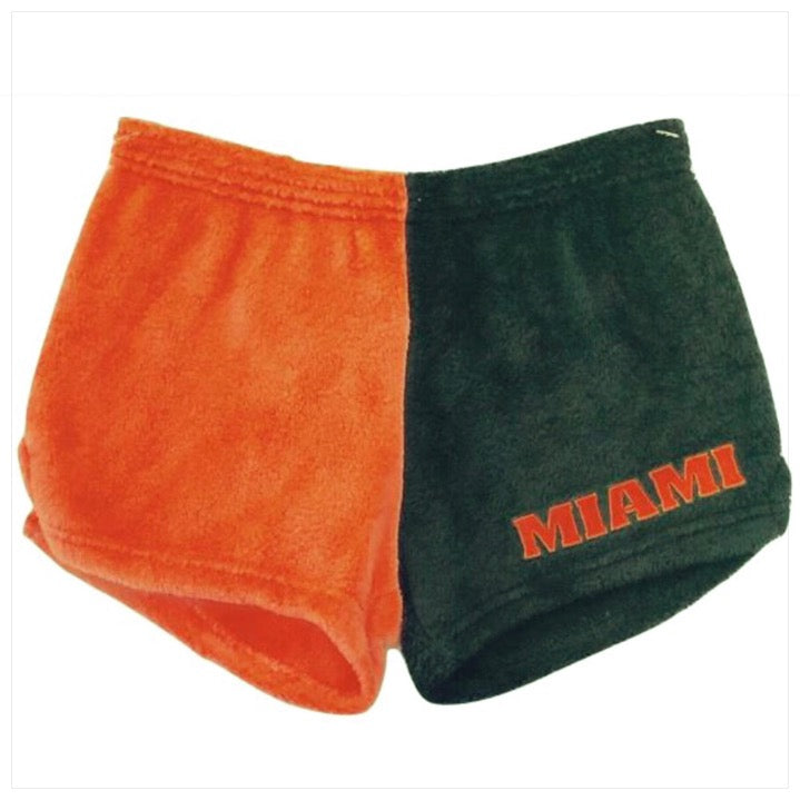 Fuzzy Color Block College Shorts -The Canteen- Miami