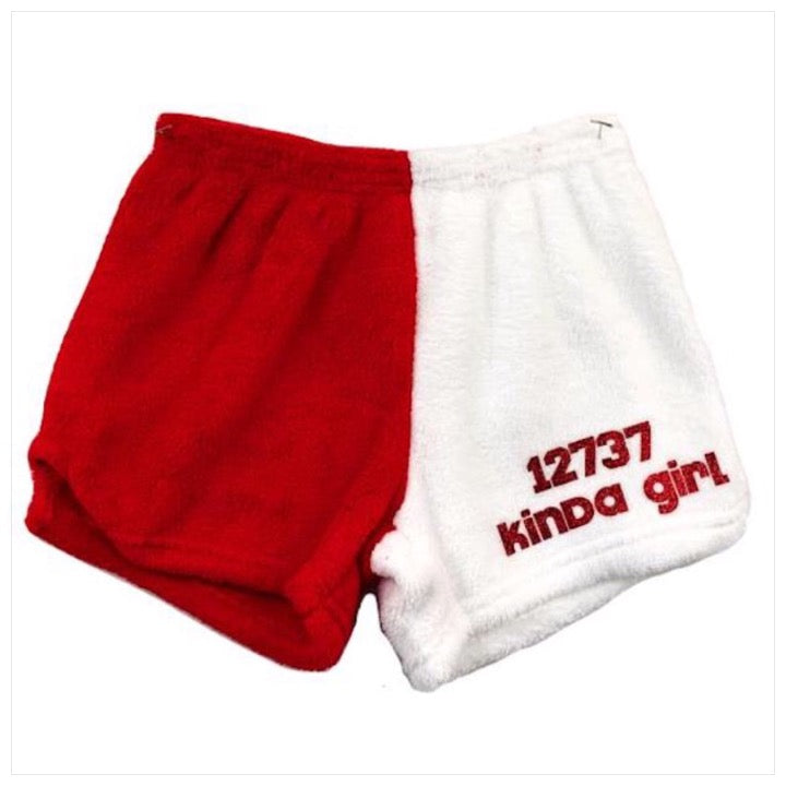 Custom Fuzzy Two-Toned Kinda Girl Shorts