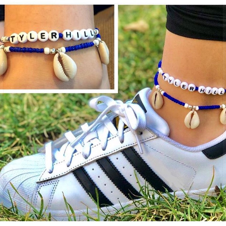 Custom Camp Ankle Bracelet Set - The Canteen - Tyler Hill